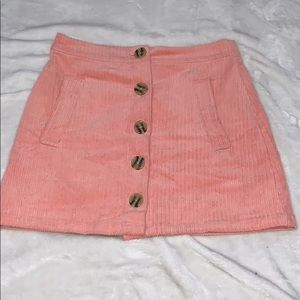 Forever 21 Pink Corduroy Mini Skirt Size Small